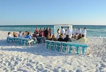 Beach Wedding Decoration / photos and decorations by Sunset Beach Weddings