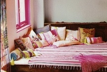 INTERIOR bohemian / awesome patterns + bold colours + individualism = warm + personal interiors