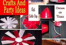 Red Solo Cup Party | Red Solo Cup Crafts / Red Solo Cup. Red Solo Cup Crafts and Red Solo Cup Party Ideas. Fun Things to make from Red Solo Cups.