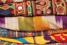 BOHO textiles / awesome colourful textiles... me want! :)