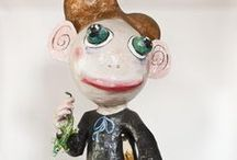 Pupazzi e maschere catapestoidi / Pupazzi e maschere in cartapesta realizzate alla Scuola Arti e Mestieri in occasione e preparazione della parata che facciamo per la Segavecchia