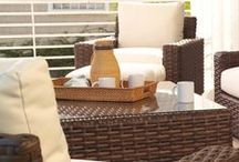 Contempo Collection / With the rich color and warm texture of rattan peel and durability of woven vinyl, the Contempo Collection offers the ultimate in outdoor living. Function and style are joined to create this one of a kind collection. The straightforward, clean design of the footed sofa and sectional collection features inviting, loose backs, comfort plush seating and extra wide arms for extraordinary comfort.