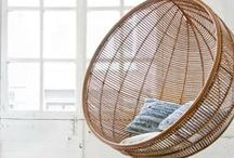 FURNITURE hanging chairs
