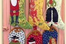 Western Christmas Stockings And Tree Skirts  Horse Cowboy Cowgirl / Have a rustic western or cowboy Christmas. Stocking with western prints, horse prints, denim, cowboy and cowgirls.