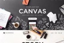 Template & Web Design / #Website #moodboard #template #infographics #webispiration #webdesign
