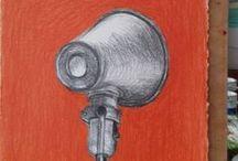 Tekeningen van marie-louise en mark sekrève / tekeningen met potlood, krijt of kleurpotlood op papier, gemaakt door marie-louise en mark sekrève. hou ons in de smiezen!