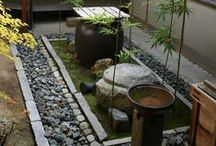 Japanese gardens / Architecture of ancient and modern Japanese gardens.