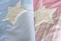 ✪ decken von traumgenäht ✪ / Kuscheldecken, Kinderdecken, Krabbeldecken, Sterne, Punkte, rosa, blau, Junge, Mädchen, Kinder, Baby  http://de.dawanda.com/shop/traumgenaeht/3202291-Decken