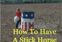 STICK HORSE RODEO / Stick Horse Rodeo. Instructions for events, barrel racing patterns, dummy roping at a stick horse rodeo. How To Have A Stick Horse Rodeo Birthday Party.