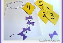 Números e quantidade na Educação Infantil / Várias formas de inserir os números de forma lúdica na rotina das crianças.