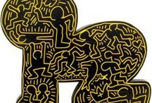 Keith Haring, 1958 -1990 / Born in Pennsylvania and died in New york at age 31 of AIDS.  Was an American artist and social activist. As a child Haring was fascinated by the cartoon art of Walt Disney and Charles Schultz  and Dr. Seuss´s illustration. In 1978 moving to NY he befriended of Basquiat and Kenny Schart. Riding the subway he began filling the empty advertising panels on stations, often was arrested for vandalism. He had his first solo exhibition in 1981. Haring´s work was exhibited in US and internationally.