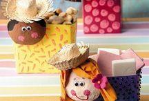 Festa junina na Educação Infantil / Atividades e decorações.