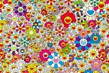 "Takashi Murakami, 1962 / Born in Tokyo. He works in fine arts and in commercial media - fashion, merchandise and animation - is known for blurring the line between high and low arts. In 2002 Murakami published his ""Superflat"" theory. In 1996 launched the Hiropon Factory which is later incorporated as Kaikai Kiki Co Lda, In 2002, at the invitation of Marc Jacobs he began his long-lasting collaboration with the fashion brand Louis Vuitton. Periods - Superflat, Contemporary Art, Pop Art."