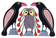 "Kenojuak Ashevak,1927 - 2013 / Canadian, Inuit artist, is regarded as one of the most notable Canadian pioneers of modern Inuit Art. Born in Baffin Island. Her early years were spent living a traditional hunting lifestyle residing in igloos and skin tents. Her imagery has been displayed on Canadian stamps and coins and over the world by collectors, corporations and museums. Her father, a respected shaman ""had more knowledge than average mortals and he would help all the Inuit people"", she said."