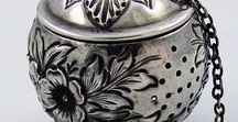 Vintage Tea Ware / Beautiful tea tins, and accessories of yesteryear.