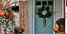 Autumn Porches / Outdoor Fall Decorating Ideas.