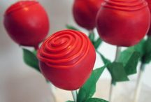 Cake Pops / Bake a cake. Make some icing. Roll them into 100 spheres. Double dip them in fabulous chocolate. Perfect for any occasion or now.