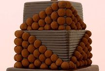 Wedding Truffle Cakes / Great wedding cakes don't have to be cake. Truffle pops in selected flavors are so now.