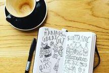 Sketchbooks & Doodles ✖ / Filled to the brim sketchbooks, art journals, doodle diaries & more.
