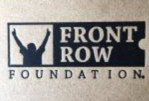 Connect with Us / Social media links to connect with the Front Row Foundation Staff
