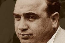 "AL CAPONE / Alphonse Gabriel ""Al"" Capone -January 17, 1899 – January 25, 1947) was an American gangster who attained fame during the Prohibition era as the co-founder and boss of the Chicago Outfit. His seven-year reign as crime boss ended when he was 33 years old."