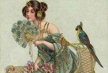 Vintage postcard - parrot