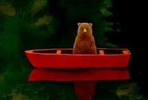 Bear, Owl & Hedgehog / instagram: minagolddesign