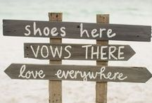 Tips for Beach Weddings / When your ceremony is on the beach, Mother Nature will expect an invitation. Here's some tips on how to ensure a smooth day - and looking good in the process!