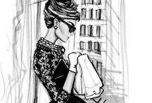 Mode illustraties vrouw / Tekeningen van mode