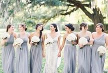 Gray Gowns / Formal attire, possibly wedding gowns. . . subtle, not white, but almost white. . ..gray