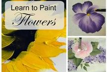 How to paint flowers / How to paint - flowers, techniques and tricks