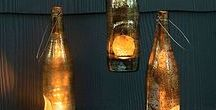 Bottles / Repurposing bottles and jars. Lighting, gardening, and home decor.