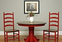 Red Furniture and Paint Me Red Accents / Painted red furniture and other home decor.  Red inspired home decor.