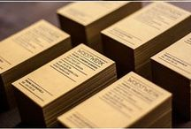 Business Cards + Print Design / Standard, square, die-cut oh-my! Example of business cards and print design that I like
