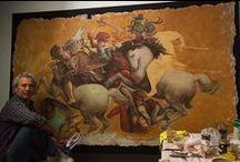 Murális művészet - fresco, secco, sgrafitto / Ide tartoznak még a kerámia, a mozaik, a stukkó, a stuccolustro, a dekoratív téglafalak, ill. a marouflage. Határesetként a graffiti, a stencilezés, és az óriásplakát.