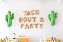 """Mexican Fiesta / Inspiration for your very own DIY """"mexican"""" themed pop-up party!"""