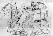 """Szalay Lajos Kossuth-díjas magyar grafikus, a 20. sz. magyar rajzművészetének megújítója / """"A világ következő legnagyobb grafikusa valószínűleg egy magyar, akit Szalay Lajosnak hívnak.""""  Pablo Picasso     (Confirmado, Buenos Aires, June 1967)"""
