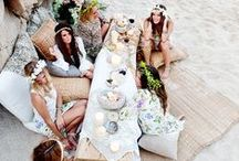 Boho Chic Dinner Party / Grab your flower crowns, we're having a Bohemian party.. and maybe some Coachella later?