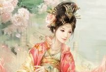 Chinese and japanese paintings, art, ...