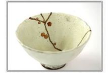 "Kintsugi, kintsukuroi - repaired with gold / ""When the Japanese mend broken objects, they aggrandize the damage by filling the cracks with gold. They believe that when something's suffered damage and has a history it becomes more beautiful."""