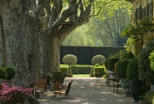 French-Style Gardens / Green hedges, pea gravel, winding paths...lovely jardins a la francais...