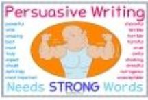Persuasive Writing / This is a selection of simple yet effective Persuasive Writing tools I've created that make learning how to write a persuasive text easy and fun.