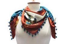 Blues & Browns Silk Scarves
