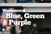 Woontrends 2013 / Woonmood Blue, green & Purple