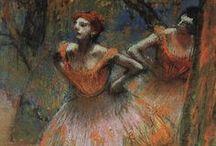 Degas (1834-1917) / Ruumiin liike, eleet ja asennot. Tanssijat ja näyttelijät malleina.