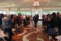 Indoor Weddings- Walking Down the Aisle / Beautiful pictures of brides walking down the aisle for an indoor wedding and surrounding decor.