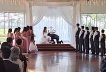 Indoor Wedding- Saying I Do / Pictures of the Bride and Groom saying their vows