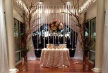 His and Her Wedding Table / Ideas to decorate the bride and grooms wedding table