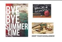 Back to School / September means Back to School. Put away those swim trunks and bikinis and pack away the beach towels, but don't get rid of your sunglasses. UV rays can damage your eyes year-round. Protect them with polarized sunglasses Haven sunglasses and clipons. www.havenfitsoversunwear.com