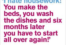 Domestic Goddess / Those of us who do not possess the desire or skill to cook  or do housework.